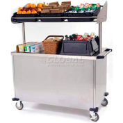 "Lakeside Economy Breakfast Cart With 3 Plastic Bins, Stainless Steel, 28-1/2""W x 54-3/4""L x 67""H"