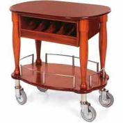 Geneva Lakeside Oval Shaped Serving Cart w/ Cutlery Compartment, 70036
