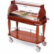 Geneva Lakeside Appetizer Cart w/ Roll Top Dome Display & Top Shelf, 70160
