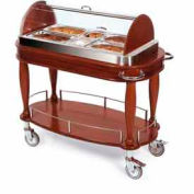 Geneva Lakeside Appetizer Cart w/ Roll Top Dome Dispay & Pull-Out Shelf, 70162