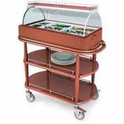 Geneva Lakeside Appetizer Cart w/ Two Oval Shelves & Top Serving Shelf, 70360