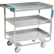 Lakeside® 729 Guard Rail Stainless 2 Shelf Cart 38 x 22 x 37 700 Lb Cap