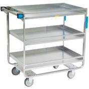 Lakeside® 729 Guard Rail Stainless 2 Shelf Cart 38 x 22 x 37 700 Lb Cap