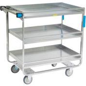 Lakeside® 730 Guard Rail Stainless 3 Shelf Cart 38 x 22 x 37 700 Lb Cap