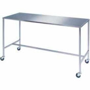 "Lakeside® 8393 Stainless Steel H-Brace Instrument Table - 48""L x 24""W x 34""H"