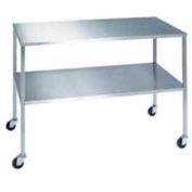 "Lakeside® 8399 Stainless Steel Instrument Table with Shelf  - 72""L x 24""W x 34""H"