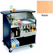 "Geneva Lakeside 43"" Portable Beverage Bar, SS Interior, 884-Maple"