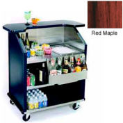 "Geneva Lakeside 43"" Portable Beverage Bar, SS Interior, 884-RedMaple"