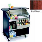 "Geneva Lakeside 43"" Portable Beverage Bar, SS Interior, 884-RedMaple"