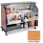 "Geneva Lakeside 64"" Portable Beverage Bar, Insulated Ice Bin, 887-AmberMaple"