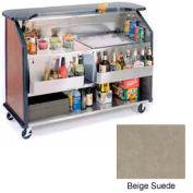 "Geneva Lakeside 64"" Portable Beverage Bar, Insulated Ice Bin, 887-BeigeSuede"
