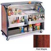 "Geneva Lakeside 64"" Portable Beverage Bar, Insulated Ice Bin, 887-RedMaple"