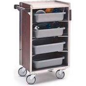 Lakeside® 890BL 4 Shelf Md Bussing Cart - 27-3/4X17-5/8 Black