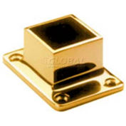 "Lavi Industries, Flange, Square, Cut, for 1.5"" Tubing, Polished Brass"