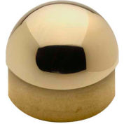 """Lavi Industries, Half Ball End Cap, for 2"""" Tubing, Polished Brass"""