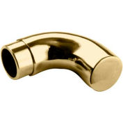 "Lavi Industries, Radius Wall Return, for 2"" Tubing, Polished Brass"