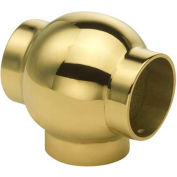 """Lavi Industries, Ball Tee, for 1"""" Tubing, Polished Brass"""