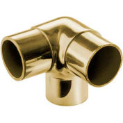 "Lavi Industries, Flush Elbow Fitting, Side Outlet, for 1.5"" Tubing, Polished Brass"