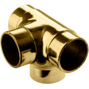 "Lavi Industries, Flush Tee Fitting, Side Outlet, for 1.5"" Tubing, Polished Brass"