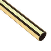 "Lavi Industries, Tube, 1.5"" x .050"" x 12', Polished Brass"