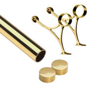 "Lavi Industries, 4' Foot Rail Kit, 2"" Tube, Polished Brass"