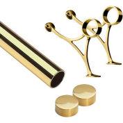 "Lavi Industries, 5' Foot Rail Kit, 2"" Tube, Polished Brass"