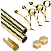 "Lavi Industries, 10' Foot Rail Kit, 2"" Tube, Polished Brass"