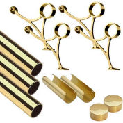 "Lavi Industries, 14' Foot Rail Kit, 2"" Tube, Polished Brass"