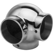 "Lavi Industries, Ball Elbow, Side Outlet, for 2"" Tubing, Polished Stainless Steel"