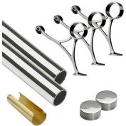 "Lavi Industries, 10' Foot Rail Kit, 2"" Tube, Polished Stainless Steel"
