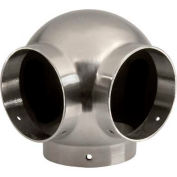"""Lavi Industries, Ball Elbow, Side Outlet, for 2"""" Tubing, Satin Stainless Steel"""