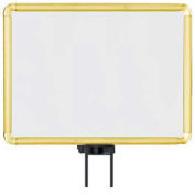 """Lavi Industries, Horizontal Fixed Sign Frame, 50-1131SH/GD, 11"""" x 14"""", Unslotted, Gold"""
