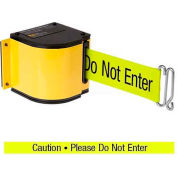 "Lavi Industries Yellow Quick Mount Barricade, 18'L ""Caution - Do Not Enter"" Belt, Modified Mount"