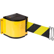 Lavi Industries Yellow Quick Mount Barricade, 18'L Black/Yellow Retractable Belt, Modified Mount