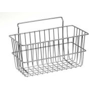 """Lavi Industries, Slat Wall Small Basket, 809680, 12"""" x 6"""" x 6"""", Chrome"""