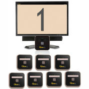 """QtracCF® Plug and Play, 32"""" LCD Beige & Gray Display, 8 Remotes"""