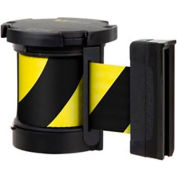 Lavi Industries Replacement Mechanism, For Use W/Beltrac Stanchions, 13'L Safety Black/Yellow Belt