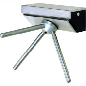 3-Arm Stainless Steel Wall Mounted Turnstile, Left Hand Rotation-With Counter/Register