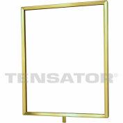 "Tensator Sign Frame Post Rope 11X14"" Polished Brass"