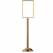 "Tensator Sign Frame Stand Traditional Base 14X22"" Polished Brass"