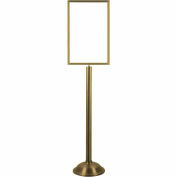 Sign Stand Frame - Satin Brass with Domed Base 22 x 14