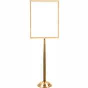 Sign Stand Frame - Satin Brass with Domed Base 28 x 22