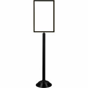 "Tensator Sign Frame Stand Traditional Base 14X22"" Black"