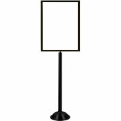 "Tensator Black Heavy Duty 22""x28"" Traditional Sign Stand"