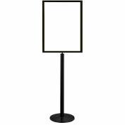 "Tensator Sign Frame Stand Flat Universal Base 22X28"" Black"