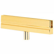 Tensabarrier Sign Bracket Frame, Polished Brass