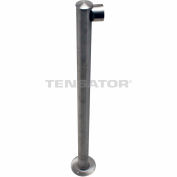 Adapta Rail Single Line End Post - Polished Chrome