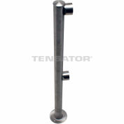 Tensabarrier Fixed Railing System Polished Chrome Dual Line Adapta-Rail End Post