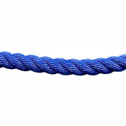 Tensator Twisted Rope Blue 1' No Ends