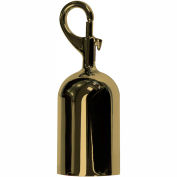 Tensator Polished Brass Snap Rope End